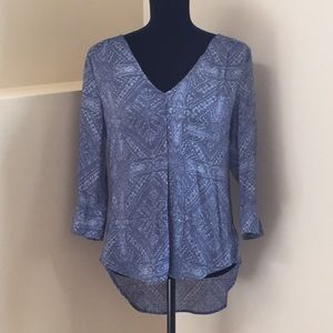 Blue print tunic